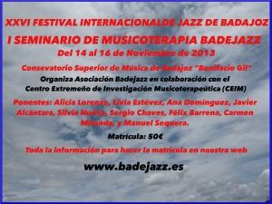 SEMINARIO DE MUSICOTERAPIA BADEJAZZ